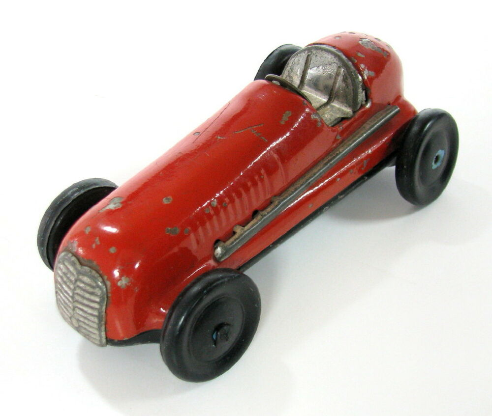 EARLY RARE VINTAGE TIN FRICTION RACER RACING CAR MODERN