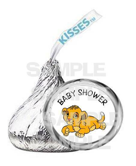 baby simba lion king baby shower kiss labels party favor ebay