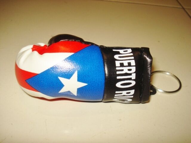 Puerto Rico Rican Flag Boxing Glove Gloves Key Chain Cars