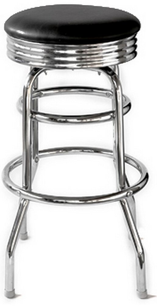 RETRO Diner Bar Stool Chrome Black Vinyl Seat 1 Dozen  : s l1000 from www.ebay.com size 515 x 1000 jpeg 41kB