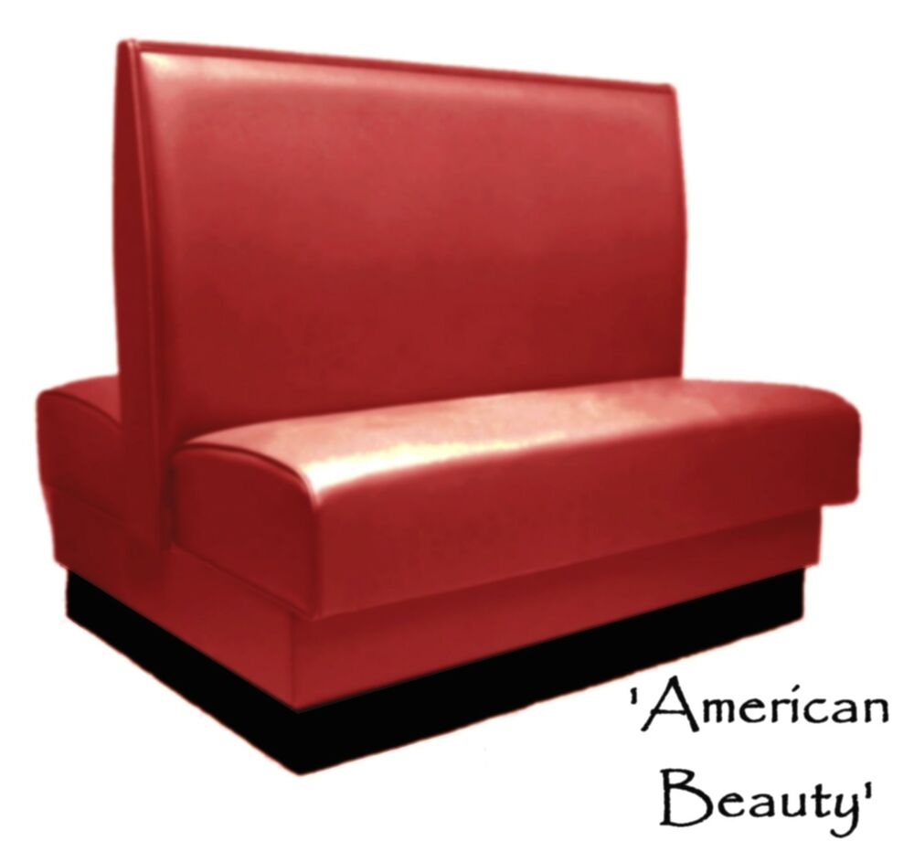 Restaurant Booth Double American Beauty Red Custom Color