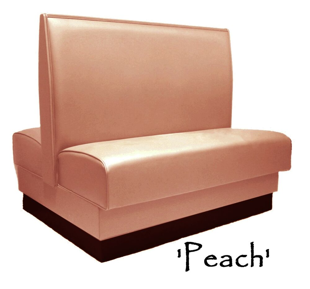 Double Restaurant Booth Custom Peach Color Diner Booth
