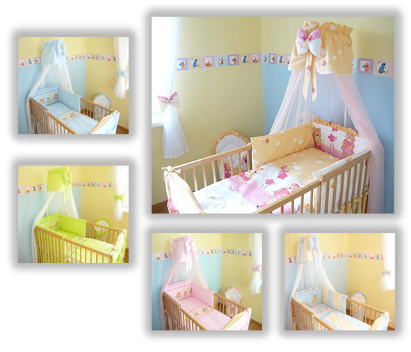 baby bettw sche himmel nestchen bettset 100x135cm f r babybett 120x60 140x70 ebay. Black Bedroom Furniture Sets. Home Design Ideas