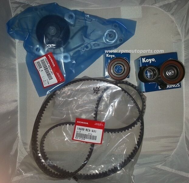 GENUINE TIMING BELT & WATER PUMP KIT & TENSIONERS HONDA