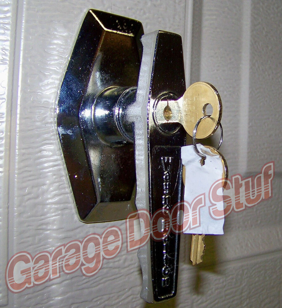 Garage door lock ebay wayne dalton garage door lock with 2 keys outside lock handle assy new rubansaba