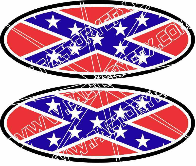 Conderate Flag Ford Decal Emblems F250 F350 F150 Ranger Excursion Redneck 04 11 Ebay