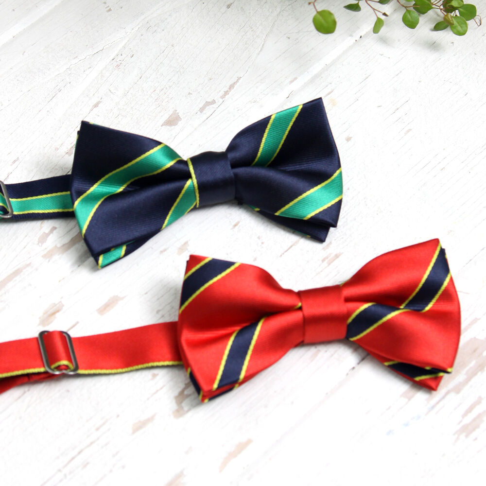 Dad boys baby 3 size navy green red preppy style clip on bowtie made
