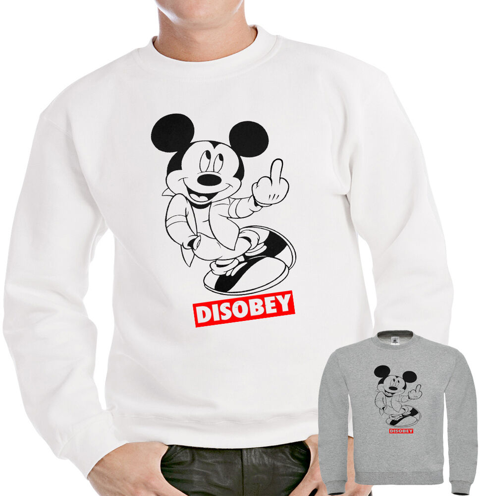 mickey mouse hands jumper disobey sweatshirt obey drake
