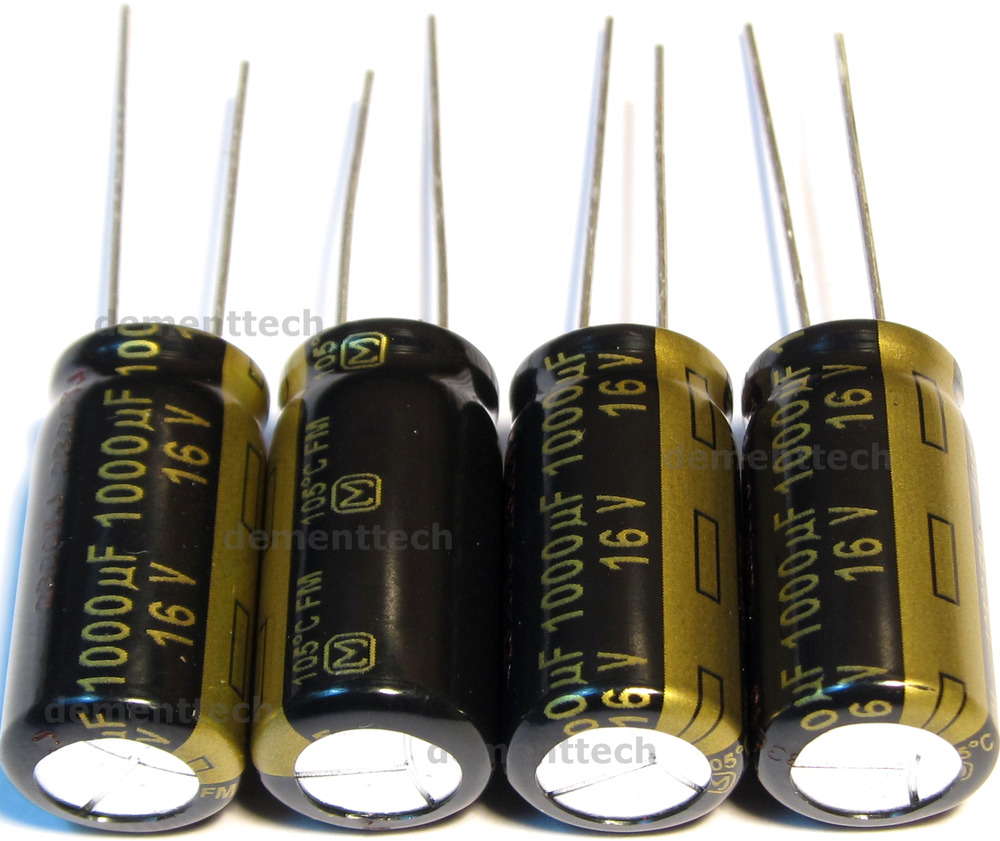 4x Panasonic Fm 1000uf 16v Low Esr Radial Capacitors Caps
