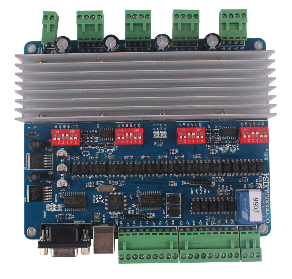 4 axis nema23 3 0a stepper motor usb driver board tb6560 for 4 axis stepper motor controller