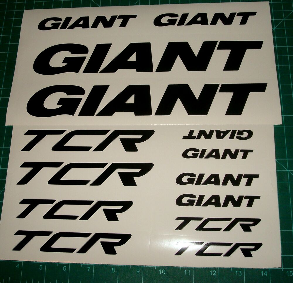 Giant tcr bikedecals stickers mtb bike racing dash avail - Sticker geant mural ...