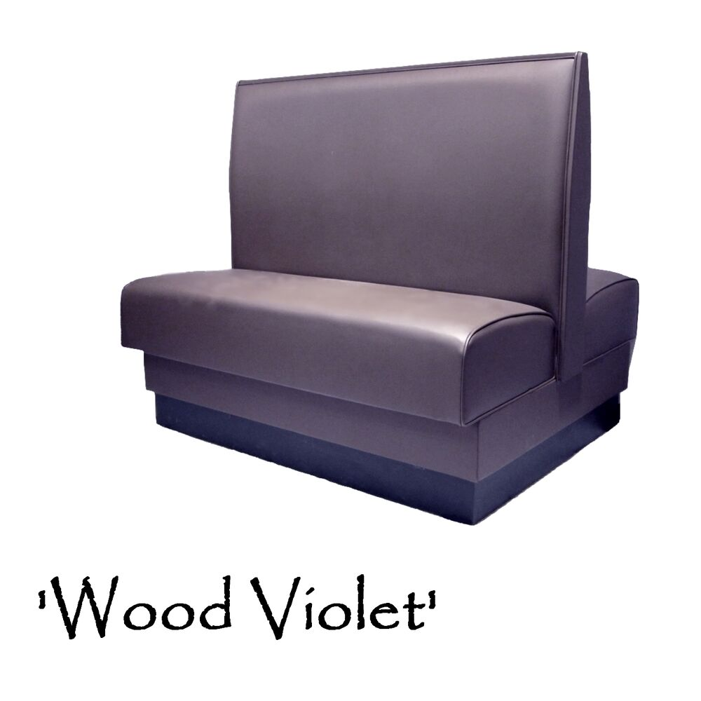Restaurant Double Booth Custom Color Wood Violet Diner