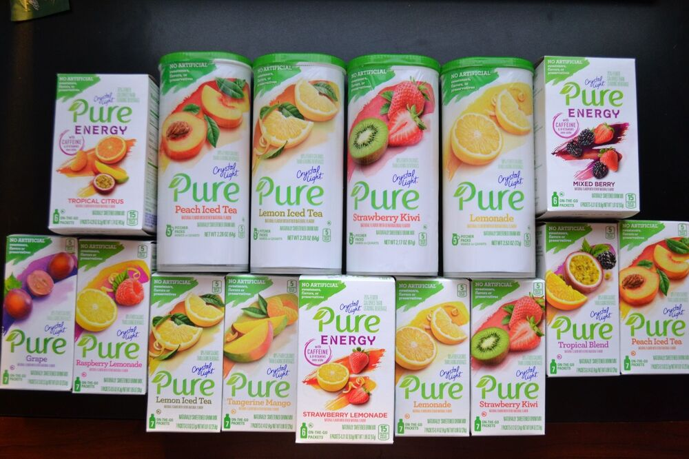 Crystal Light Pure Six Flavors to Choose From **ONLY THE ...