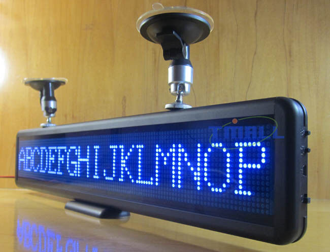 Blue Car Programmable Led Moving Scrolling Message Display