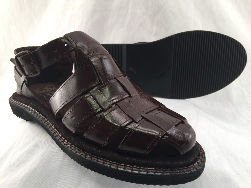 mens leather shoe sandals brown huarache all sizes made