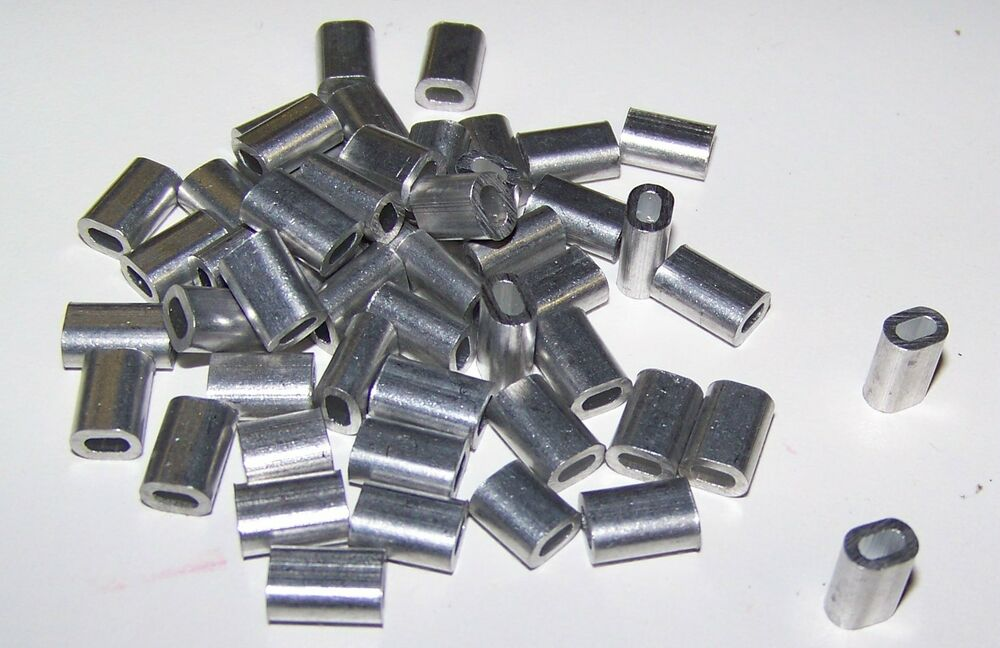 Quot aluminum cable crimps sleeves clip fittings loop