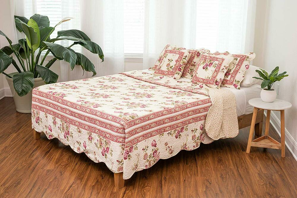 Dada Bedding Floral Rose French Country Cottage Quilted