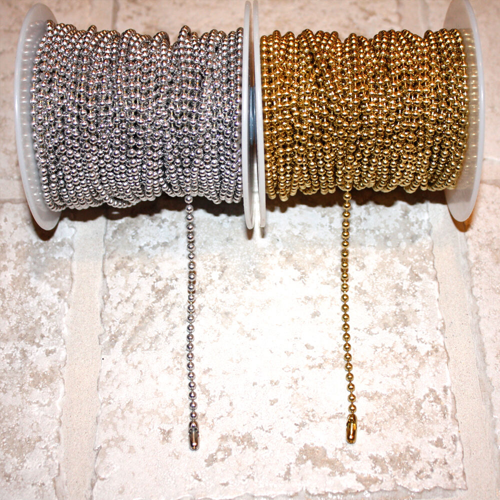 Pull Chain Extension Size 6 Gold Or Silver Color 6 Or 12