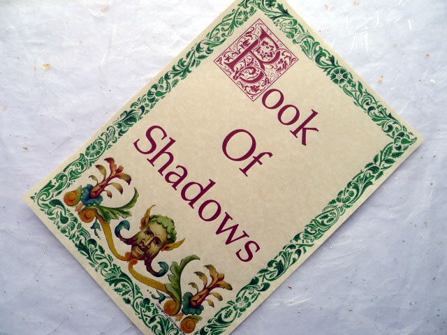 How To Make A Book Of Shadows Cover ~ Book of shadows title page front cover parchment poster