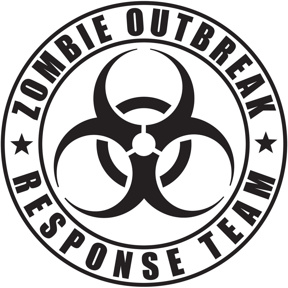 Zombie Outbreak Response Team Vinyl Decal Sticker Jeep