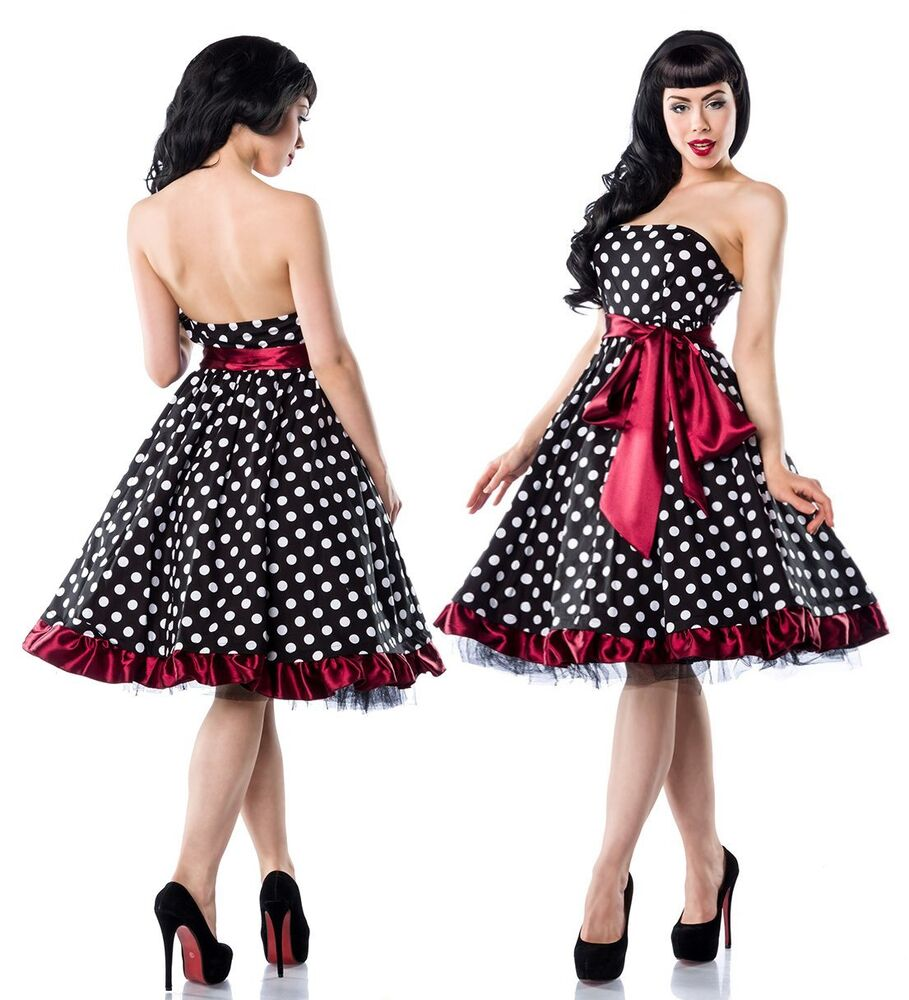 sexy 50er jahre pin up vintage rockabilly kleid tanzkleid oder petticoat rock ebay. Black Bedroom Furniture Sets. Home Design Ideas