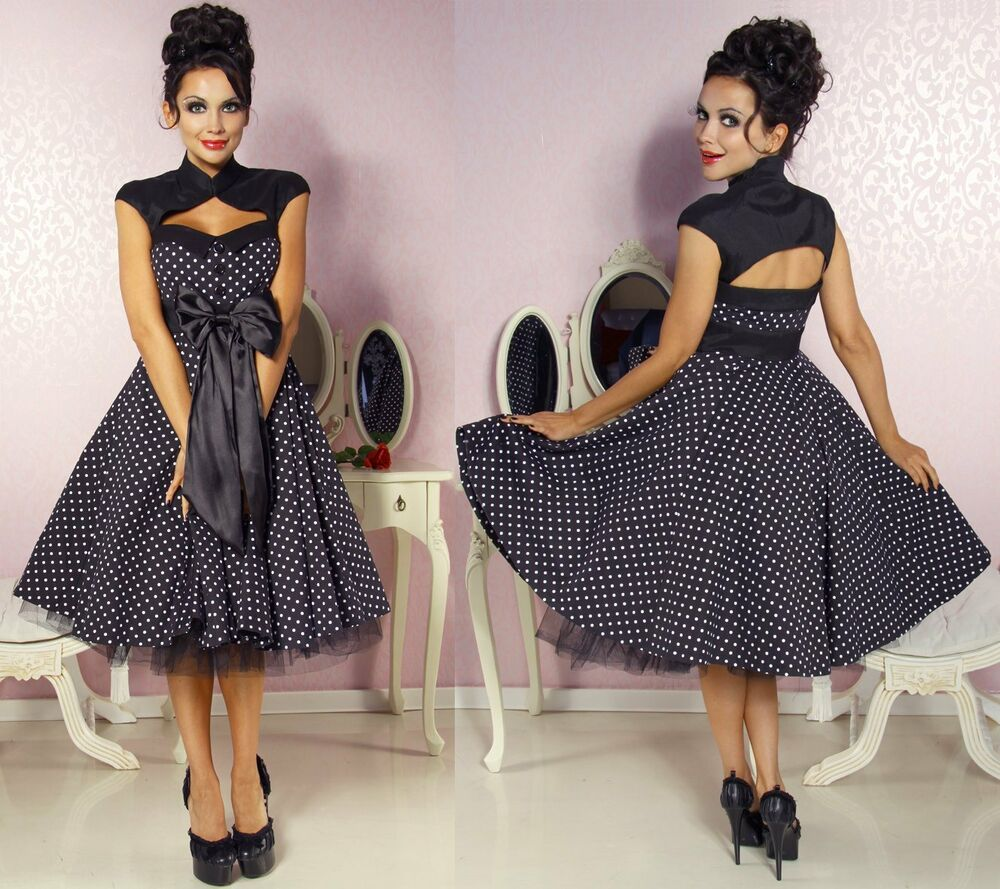 50er jahre pin up vintage rockabilly kleid tanzkleid petticoat rock ebay. Black Bedroom Furniture Sets. Home Design Ideas