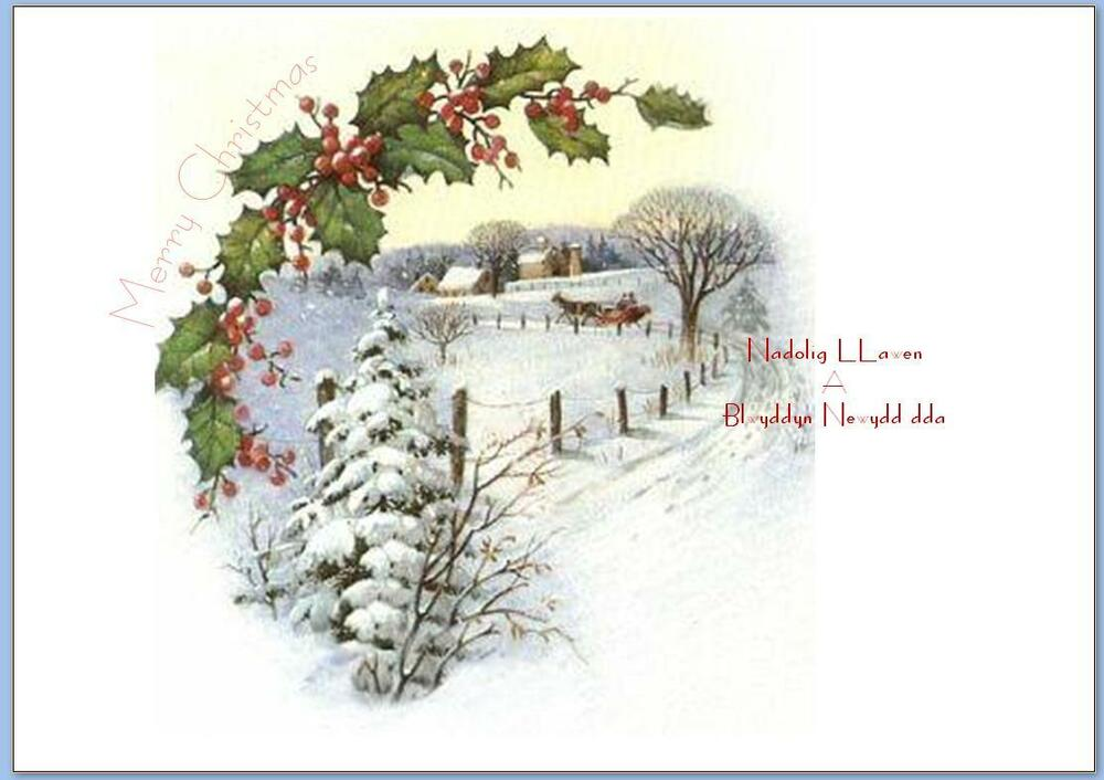 Welsh Christmas Card Inserts Pack Of 10 EBay