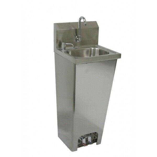 Hand Sink W Foot Operated Valves Stainless Steel No Lead Faucet Ebay