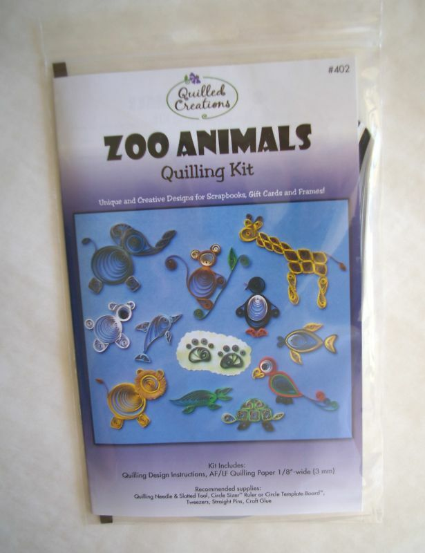 Zoo Animals Quilling Kit Instructions Paper 877055002101 Ebay