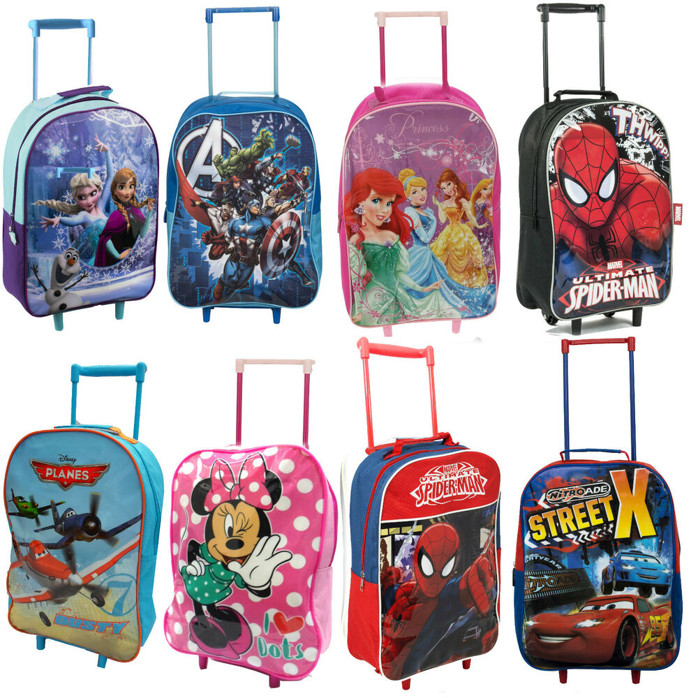 Disney KIDS BOYS GIRLS CABIN TROLLEY CASE WHEELED BAG SUITCASE ...