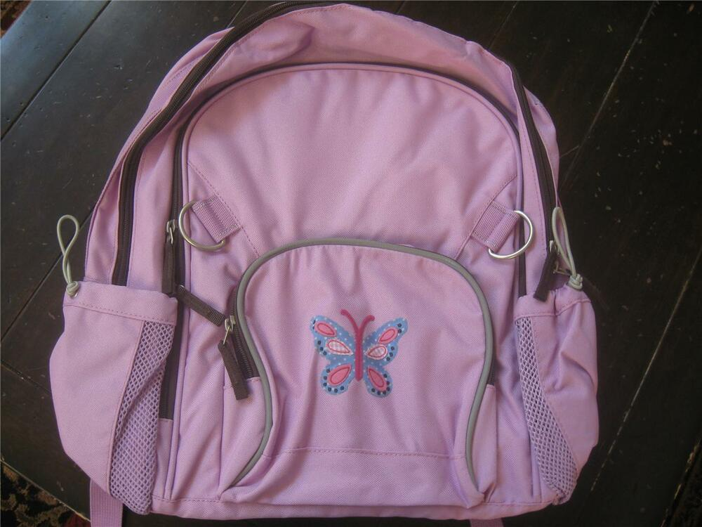 Pottery Barn Kids Fairfax Purple Butterfly Backpack Htf