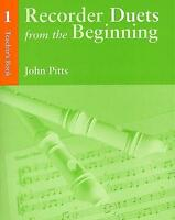 Pitts: Recorder Duets From The Beginning  Teacher's Book 1 CH61251