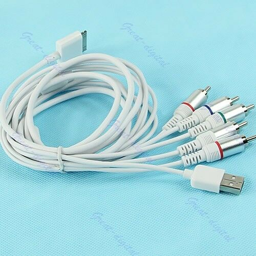 iphone to tv cable 1 8m component av tv audio cable usb 5 rca f apple 3060