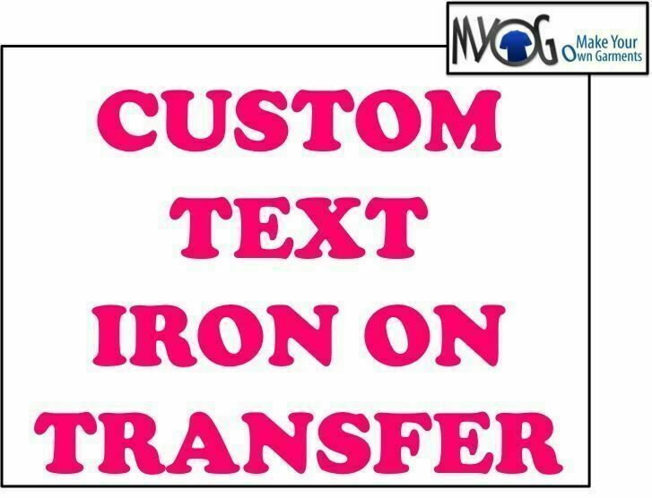 Custom iron on t shirt transfer personalised text pink for Custom t shirt transfers
