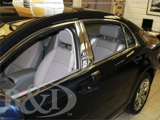 chrome pillar posts for chevy malibu fits 2008 2012. Black Bedroom Furniture Sets. Home Design Ideas