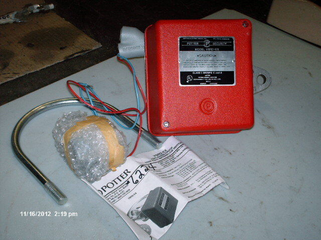 Potter electric signal water flow switch vsrd ex quot vane