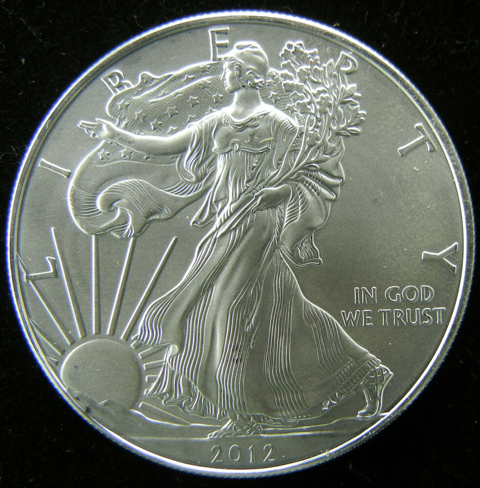 2012 1 Oz 999 Fine Silver Liberty Walking American Silver