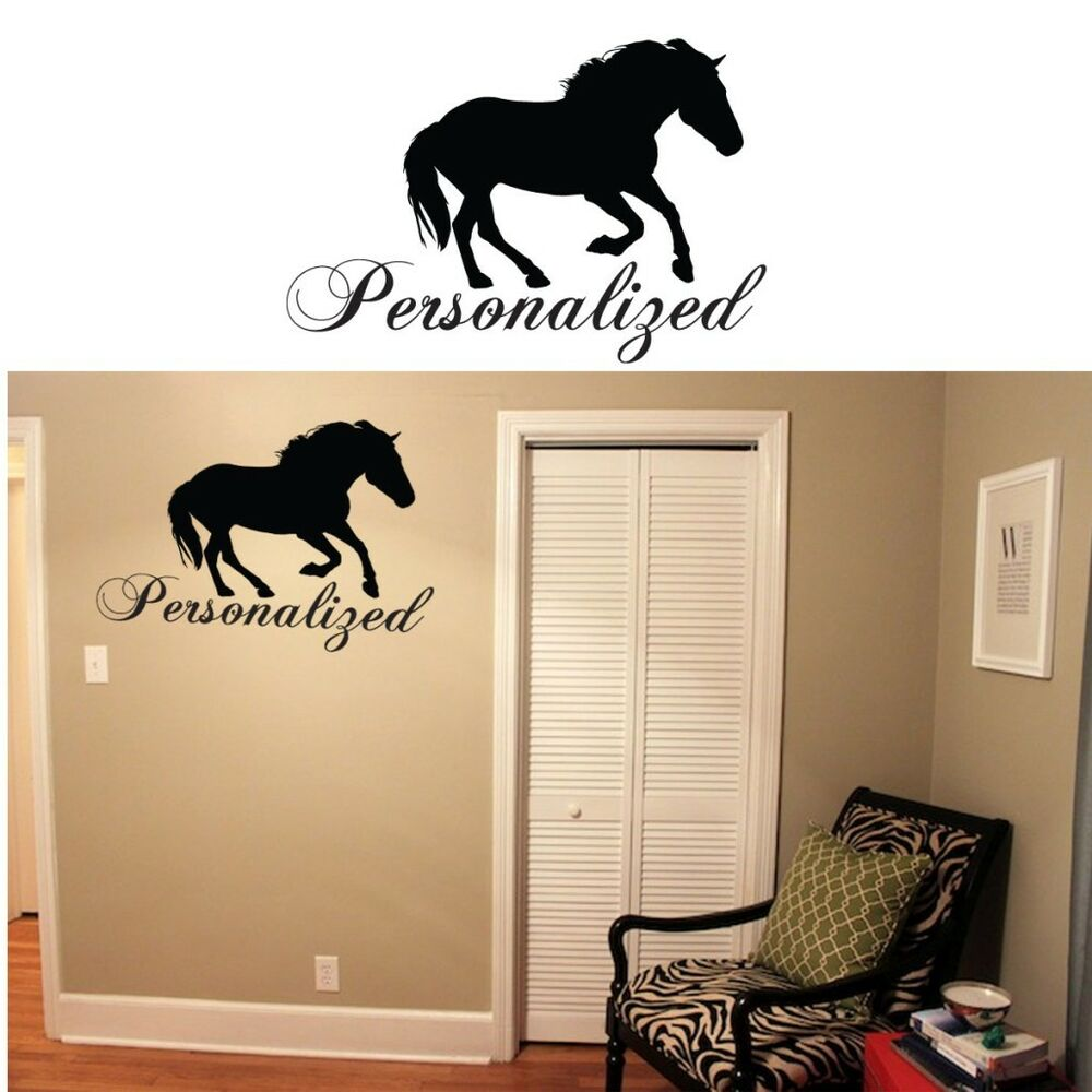 Equestrian horse wall decor equestrian wall stickers and vinyl equine stickers ebay - Stickers on the wall decoration ...