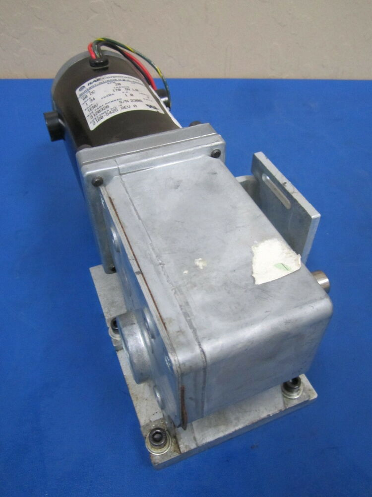 Rae corporation p n 3120326 60v 20 rpm dc motor for 20 rpm electric motor