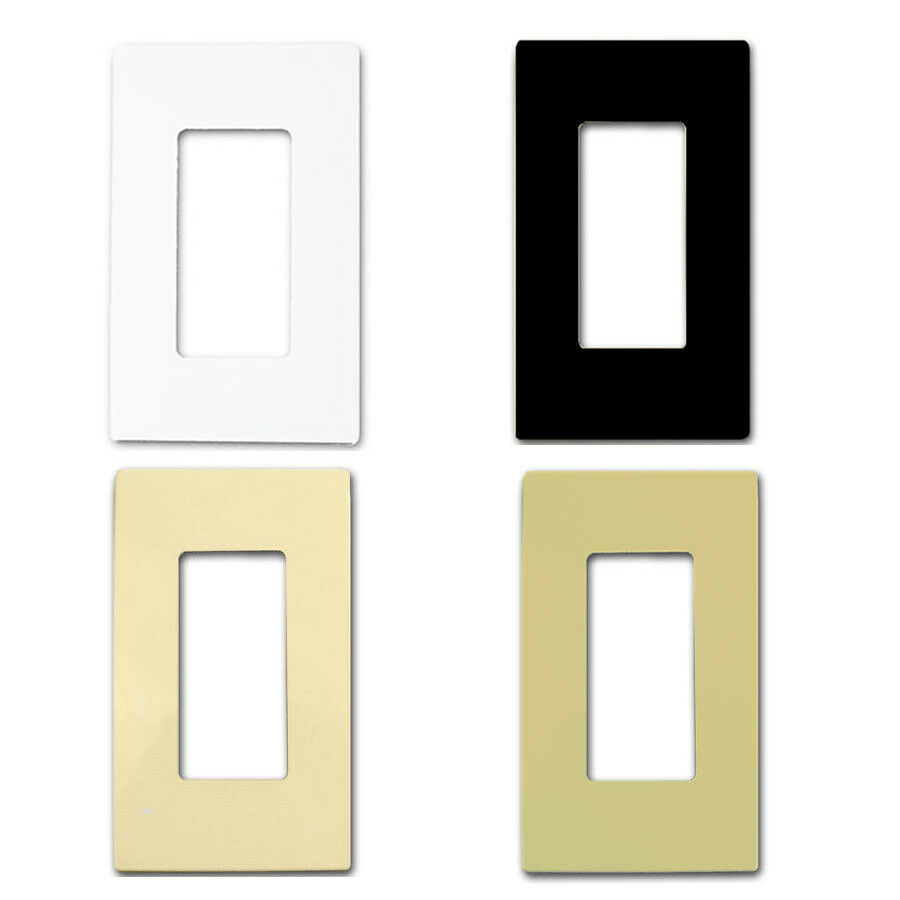 Screwless Decorator GFCI Rocker Wall Switch Plates White