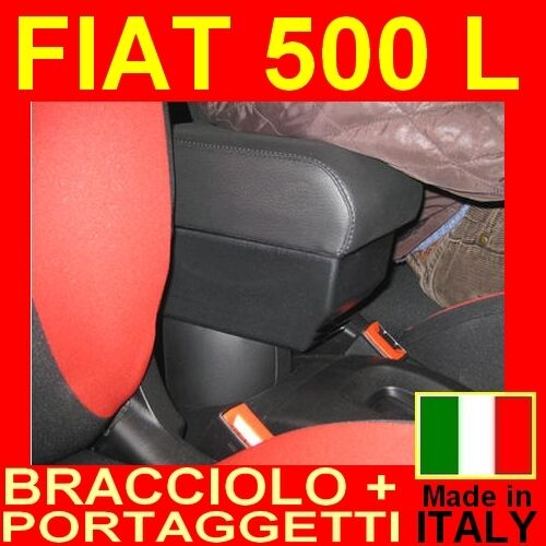 bracciolo portaoggetti xxl per fiat 500 l 2012 05 2017 poggiabraccio ebay. Black Bedroom Furniture Sets. Home Design Ideas