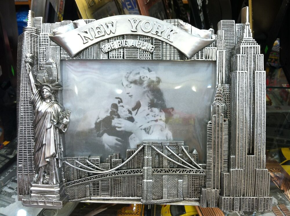 New York City Picture Frame, Famous Landmarks, Metal, 6x4 ...