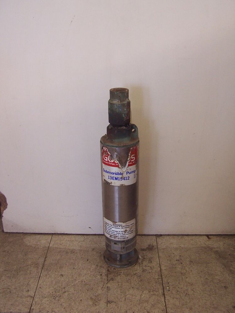 Tested Goulds 1 1 2 Hp 13 Gpm Submersible Well Pump Wet