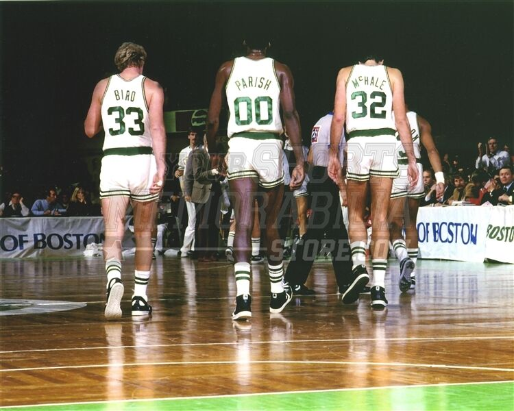 Bird Parrish Mchale Boston Celtics Walking Off Court 8x10