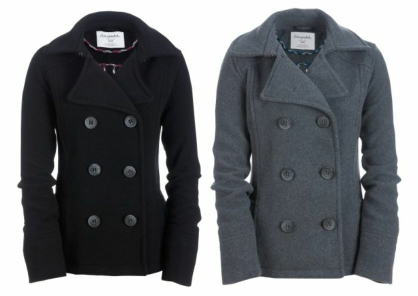 NEW AERO AEROPOSTALE WOMENS CLASSIC WOOL PEA COAT WINTER ...