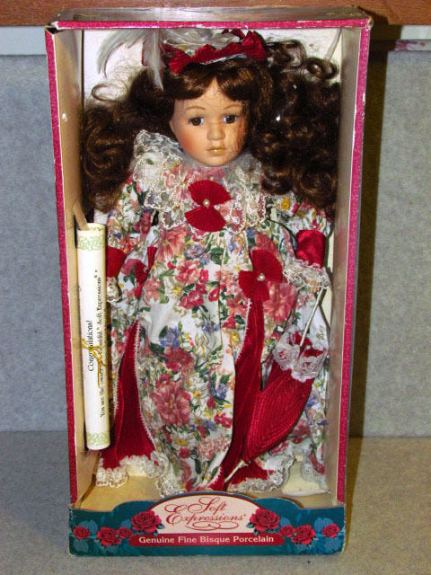 rare - soft expressions bisque porcelain doll