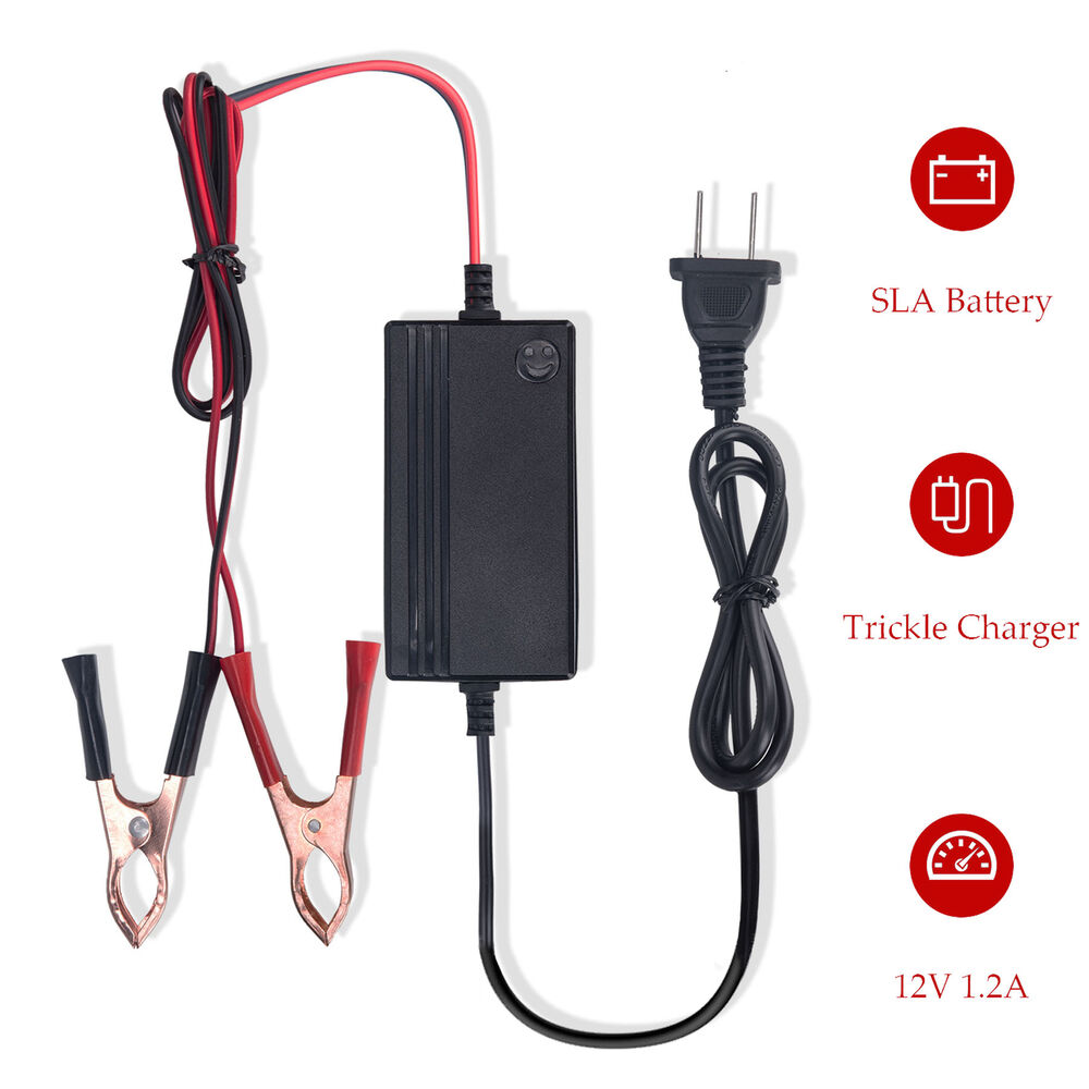 Portable1 2a 12v Battery Charger Maintainer Motorcycle Car