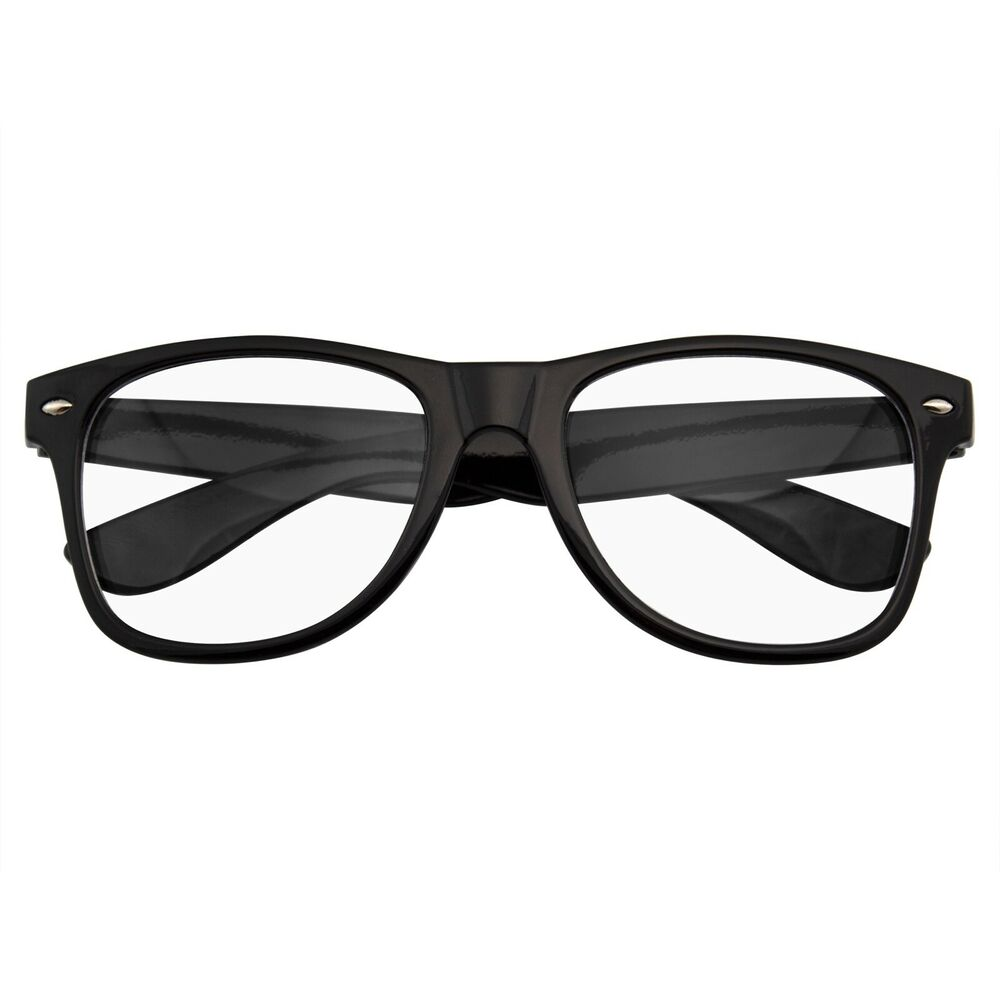 Clear Glasses With Black Frame