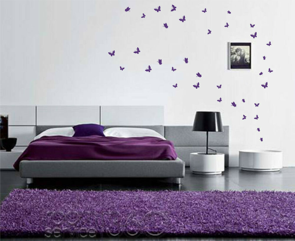 42 Butterfly Wall Art Stickers Up To 42 Vinyl Wall