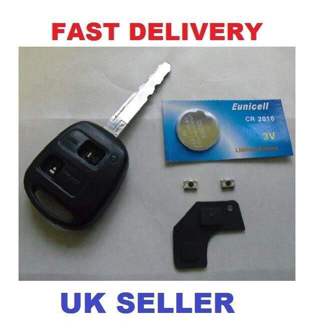 toyota yaris prius 2 button remote key repair kit switches battery ebay. Black Bedroom Furniture Sets. Home Design Ideas